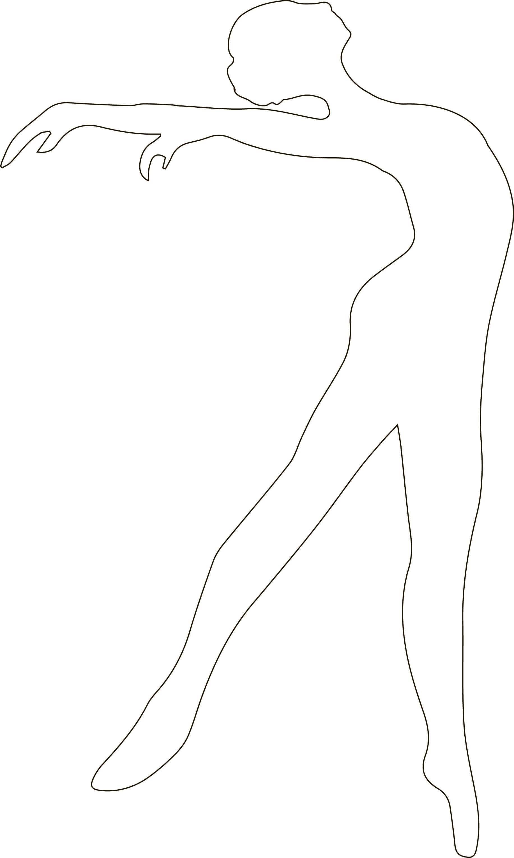 Трафарет для вырезания балерина 3