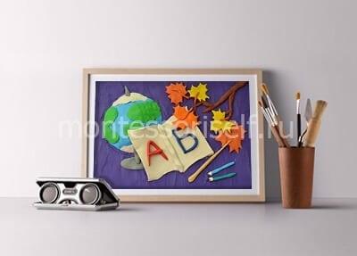 Картина из пластилина на день учителя или 1 сентября