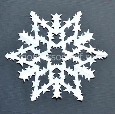 Готовая снежинка 3