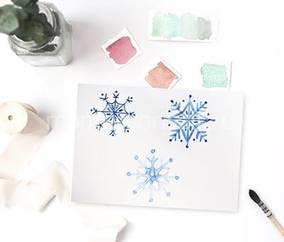 Рисунок снежинка своими руками