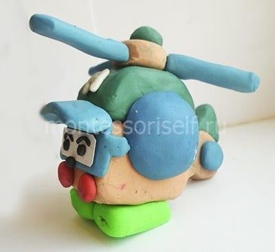 Вертолет из пластилина своими руками