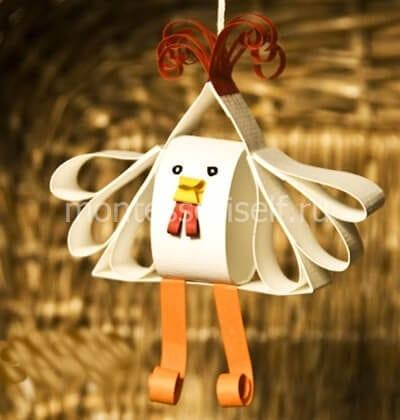 petuh2 Простые поделки из бумаги своими руками для детей от 7 лет. Мастер-класс с пошаговыми фото