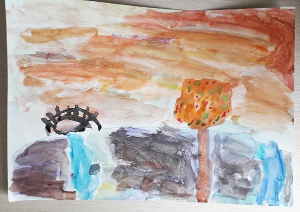Осенний рисунок в начальной школе