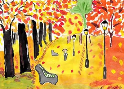 """Рисунок """"Осенний парк"""""""