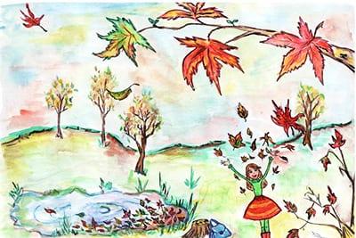 Осень и девочка
