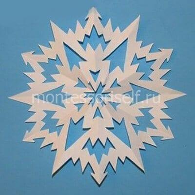 sn12-2 Объемная снежинка из бумаги своими руками: схемы, шаблоны, мастер классы, как делать такой декор