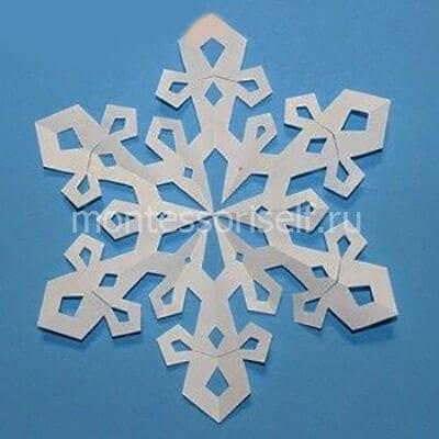 sn5-2 Объемная снежинка из бумаги своими руками: схемы, шаблоны, мастер классы, как делать такой декор