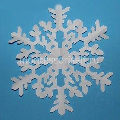 Снежинка по трафарету 6