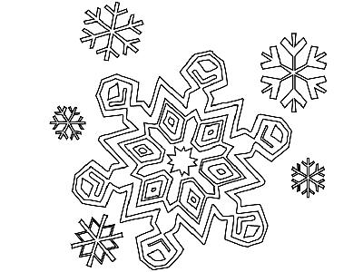 Снежинка из бумаги 1