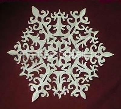 snezh2-2 Объемная снежинка из бумаги своими руками: схемы, шаблоны, мастер классы, как делать такой декор