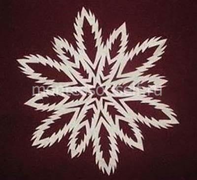 snezh4-2 Объемная снежинка из бумаги своими руками: схемы, шаблоны, мастер классы, как делать такой декор