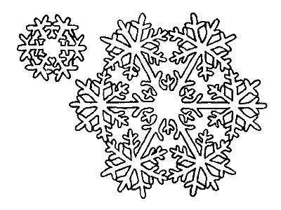 Снежинка из бумаги 3