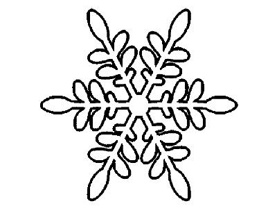 Снежинка из бумаги 7