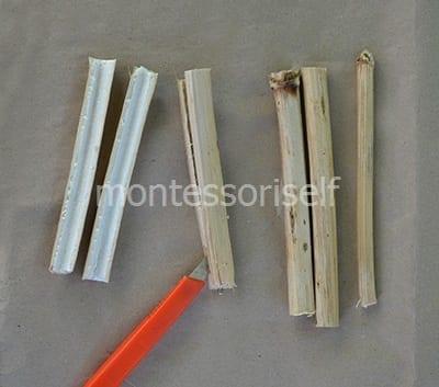Разрезаем палочки