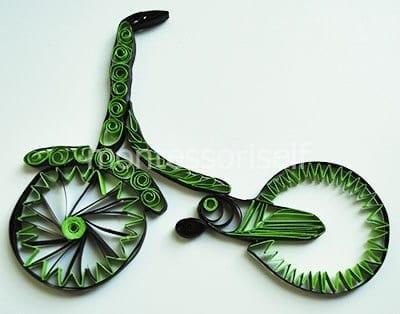 Прикрепляем педаль и колесо
