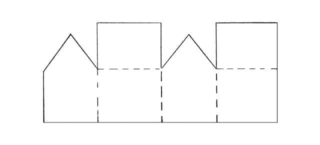 Простой домик из картона