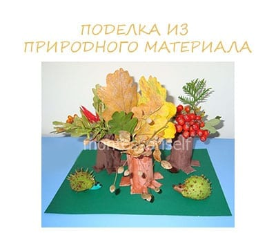 Crafts from natural material for elementary school