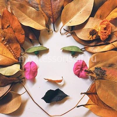 Портрет из листьев