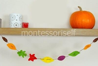 Осенняя гирлянда из цветного фетра