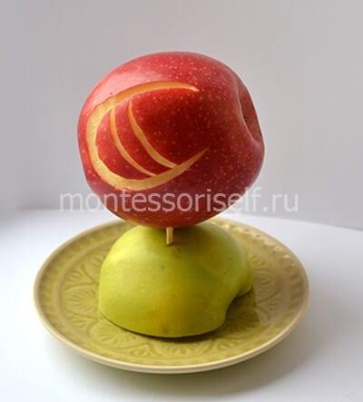 5 Поделки из яблок своими руками