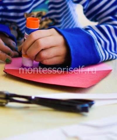 Используем клей-карандаш