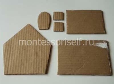 Заготовки для картонного домика