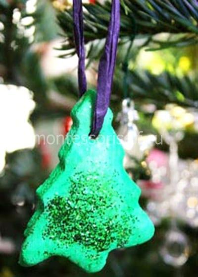Новогодняя елочка из соленого теста
