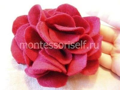 Цветок из фетра пошагово