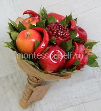 Осенний букетик из яблок