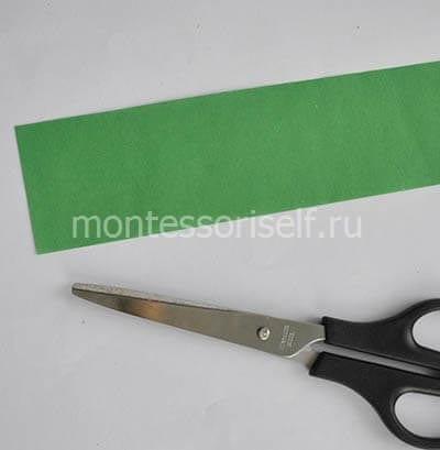 Полоса зеленой бумаги