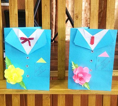 Открытка-рубашка элегантная с цветком
