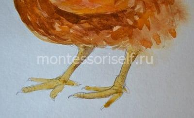 """Рисунок на Пасху """"курочка с яичком"""" 5"""