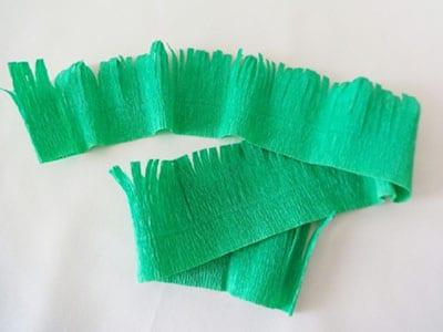 Вырезаем из бумаги травку