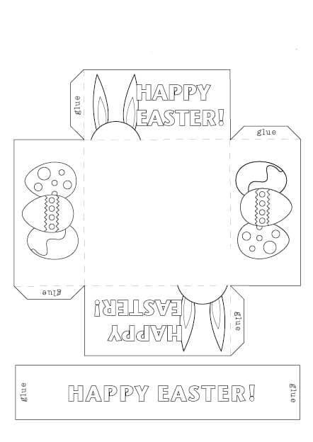 shk3 Пасхальная корзинка с зайцами своими руками