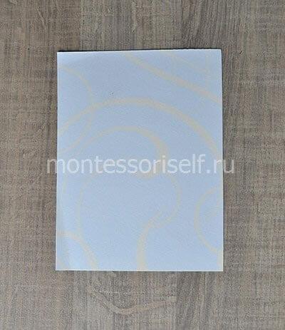 Белый лист с узорами