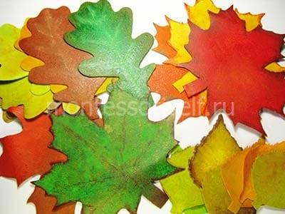 Раскрашиваем листья