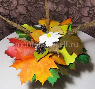 Осенний букет из фоамирана
