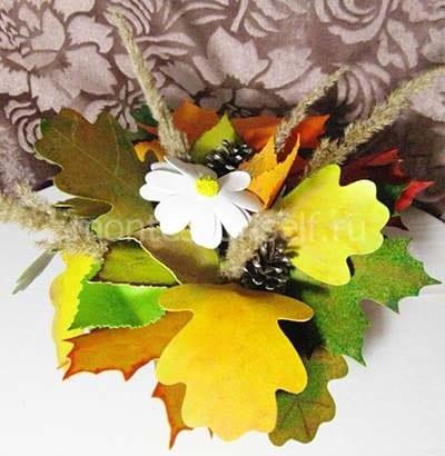 Осенняя композиция в вазе