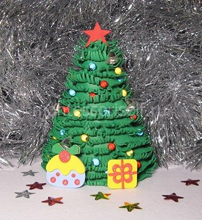 Подарок на Новый Год из фоамирана