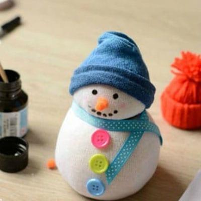 sn8-1 Поделка снеговик своими руками