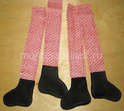 Сшиваем сапоги и ноги