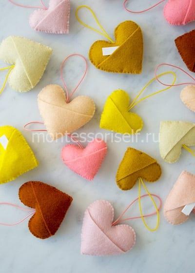 Валентинки с кармашками