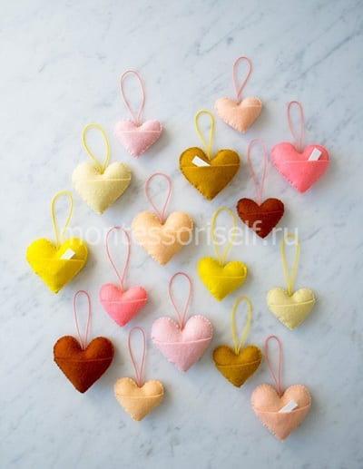 Валентинки из фетра для любимых