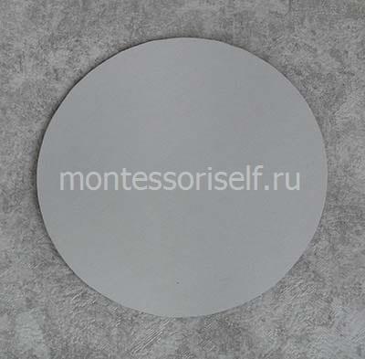 Склеиваем диск и картонный круг
