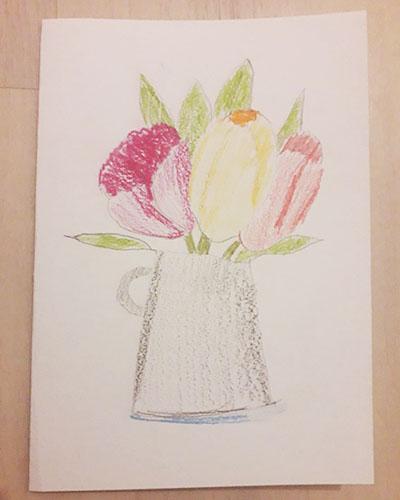 "Рисунок ""тюльпаны"" на 8 марта"
