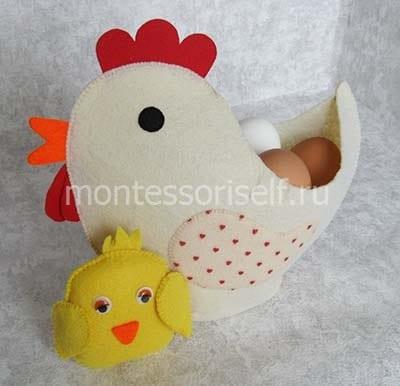 Цыпленок для курочки из фетра