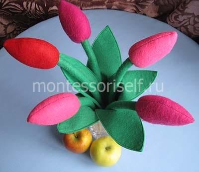 Стебли тюльпанов хорошо гнутся
