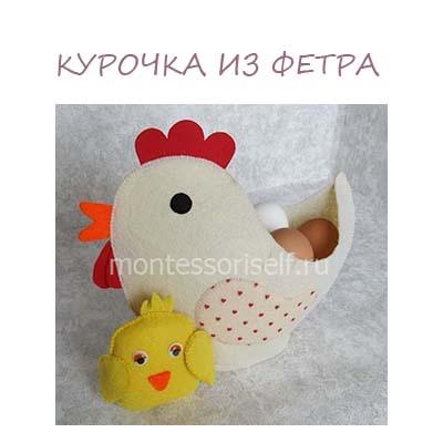 Поделки из фетра на пасху своими руками: пасхальная корзинка курица
