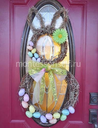Crafting Wreath for Easter