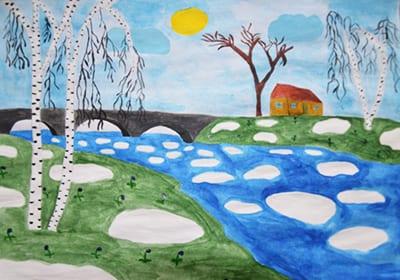 """Рисунок """"Таяние снега"""""""